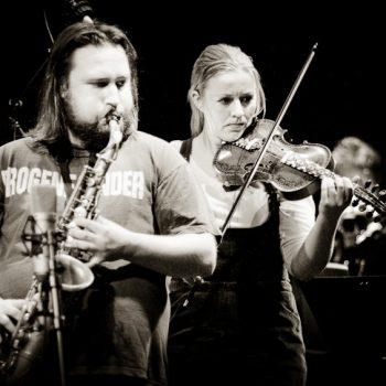 Dag Stiberg, Britt Pernille Frøholm, FriEnsemblet, Nasjonal Jazzscene 2009, Photo: Andreas Ulvo