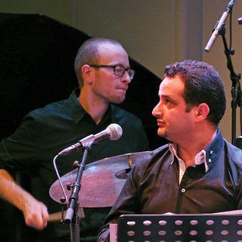 Knut Kvifte Nesheim, Safaa Al-Saadi, FriEnsemblet, Kampenjazz 2016. Photo: Arne Raanaas